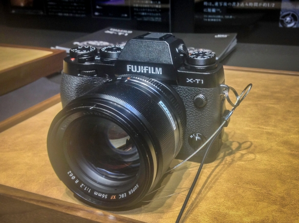 Fuji X-T1 with the upcoming XF56mm f1.2 prime lens